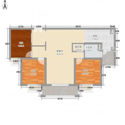 爱法山水国际3室1厅1卫0厨120.00㎡户型图
