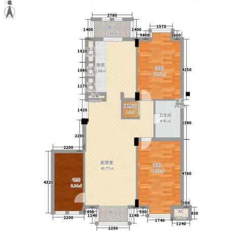 美林逸墅3室0厅1卫0厨124.00㎡户型图