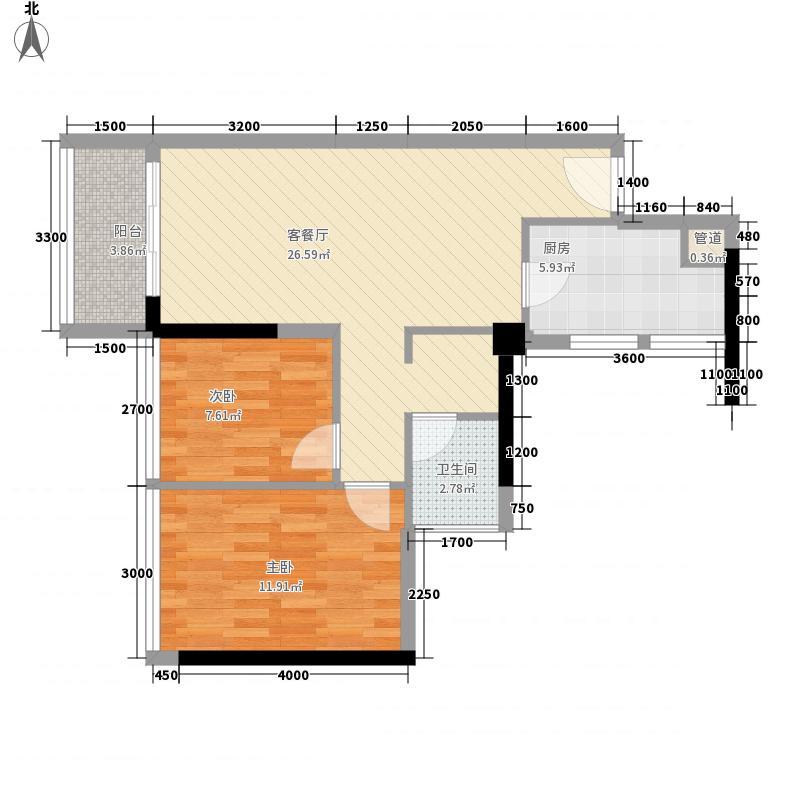 栖游记76.70㎡栖游记户型图2A户型2室2厅1卫1厨户型2室2厅1卫1厨