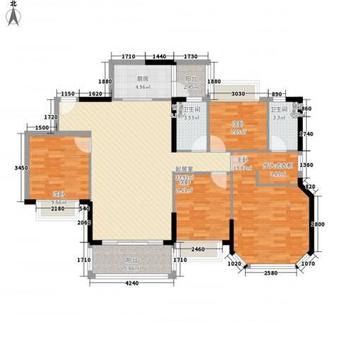 恒大山水城别墅4室0厅2卫1厨142.00㎡户型图