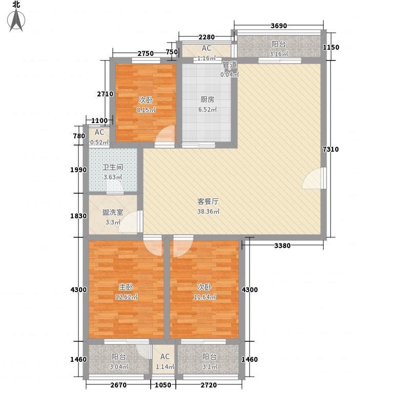 恒天新世界140.00㎡恒天新世界户型图19-2#d户型3室2厅1卫1厨户型3室2厅1卫1厨