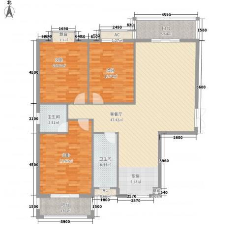 都市・心海岸3室1厅2卫0厨162.00㎡户型图