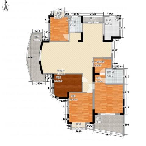 蝶庄4室1厅2卫1厨139.00㎡户型图