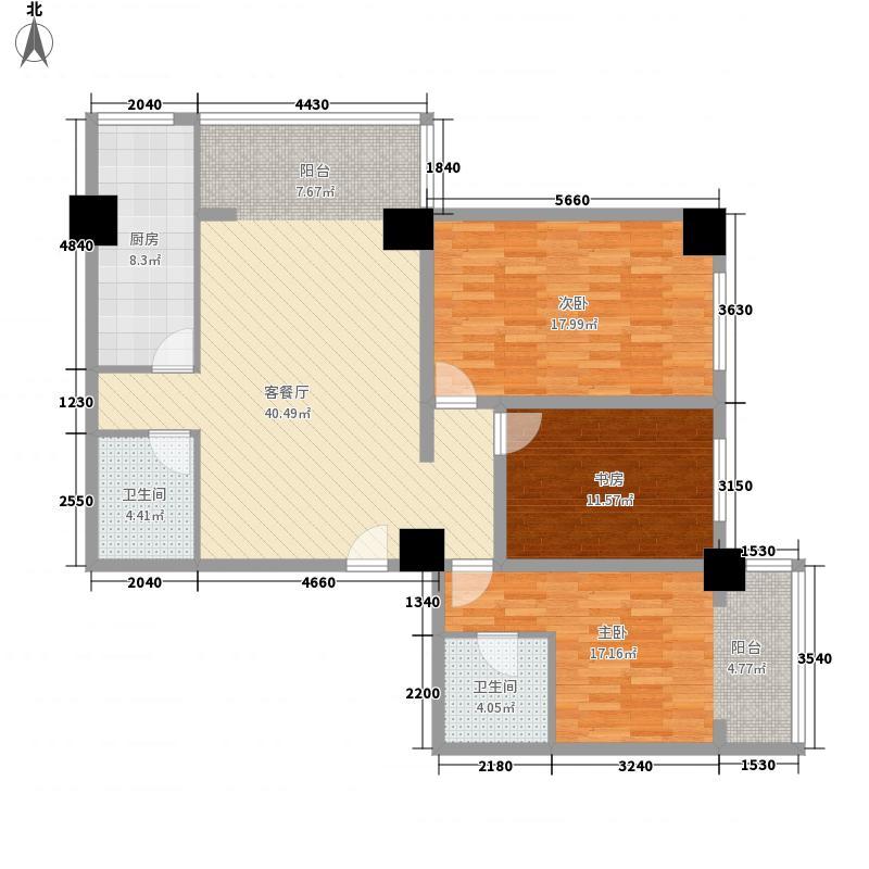 陇华大厦148.52㎡E户型3室2厅2卫1厨