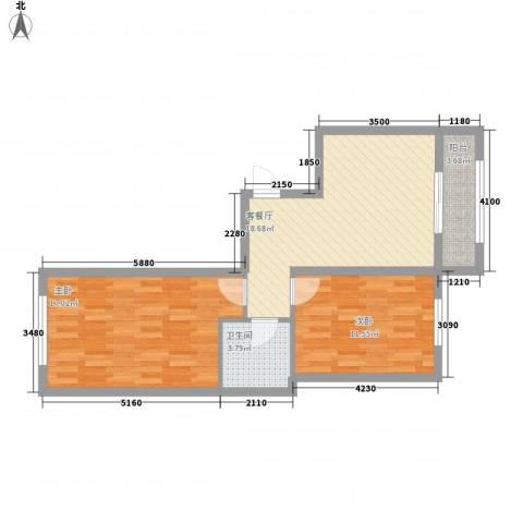 万福小筑2室1厅1卫0厨76.00㎡户型图