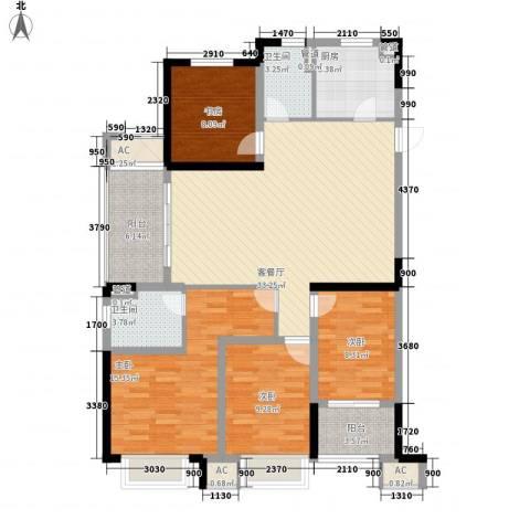 龙湖香醍漫步4室1厅2卫1厨143.00㎡户型图