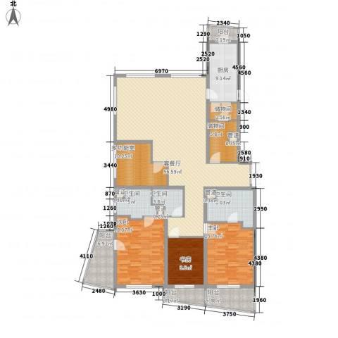 瑞苑公寓3室1厅3卫1厨250.00㎡户型图