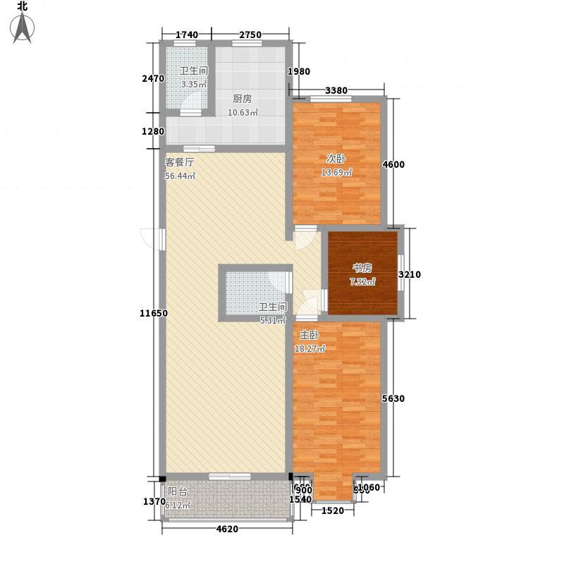 慧泽苑155.86㎡C户型3室2厅2卫1厨