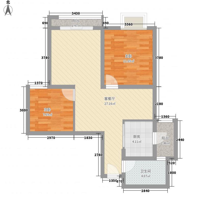 联邦国际中心81.96㎡1-2D户型81.96平米3房2厅1卫户型3室2厅1卫