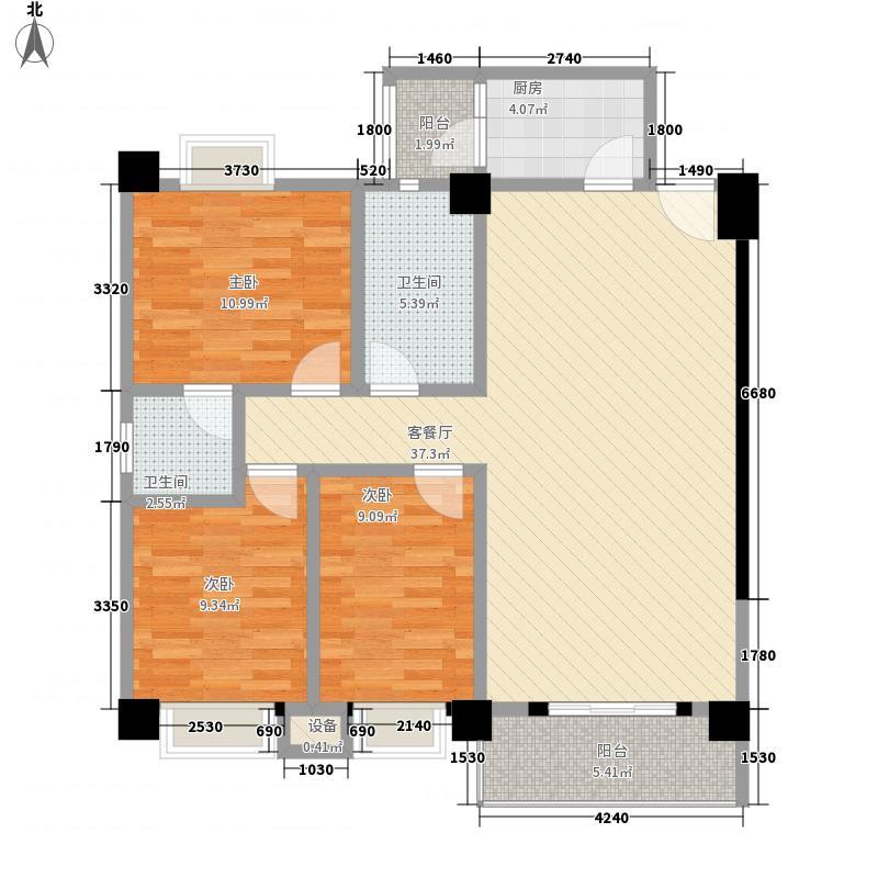万科清林径147.00㎡万科清林径3室户型3室