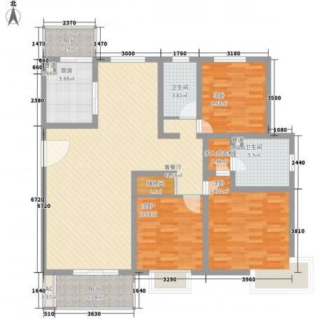 假日花城3室1厅2卫1厨147.00㎡户型图