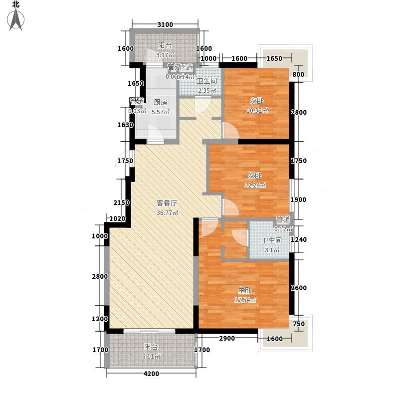 优点社区130.16㎡3号楼A4-2户型3室1厅2卫1厨