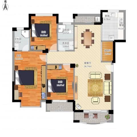 圆梦08庄园3室1厅2卫1厨146.00㎡户型图
