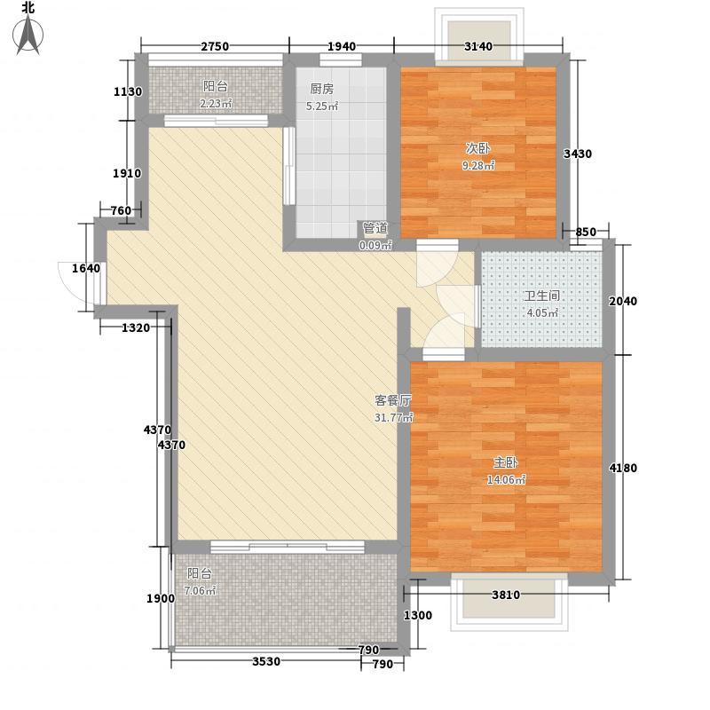 紫金花园106.70㎡紫金花园2室2厅2卫1厨户型2室2厅2卫1厨