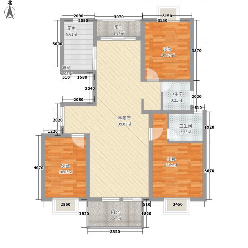 新城玉龙湾134.00㎡新1户型3室2厅2卫1厨