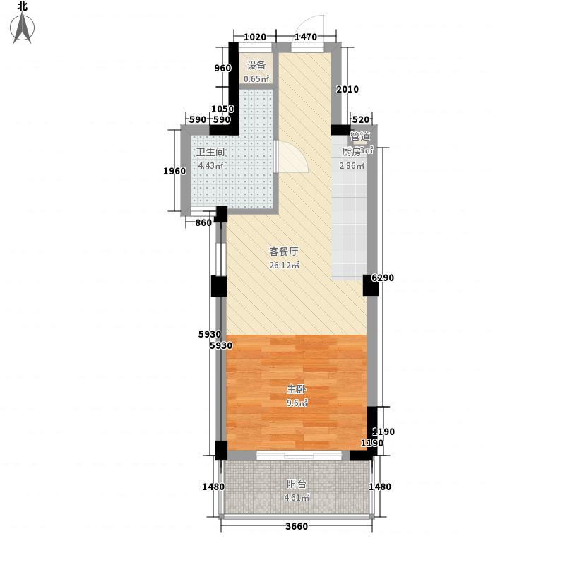 凯莱国际52.00㎡普通住宅面积5200m户型
