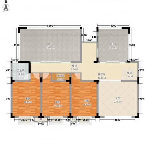 七彩阳光城3室1厅1卫0厨232.00㎡户型图