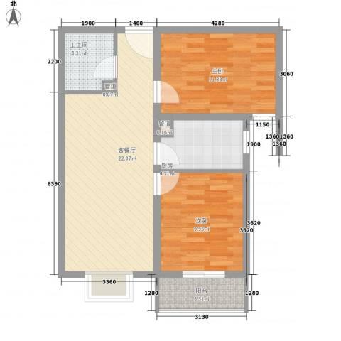 文澜阁2室1厅1卫1厨79.00㎡户型图