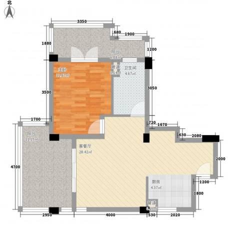 大�海・半山壹�1室1厅1卫0厨75.00㎡户型图