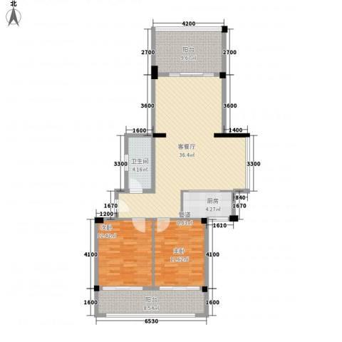 大�海・半山壹�2室1厅1卫1厨114.00㎡户型图
