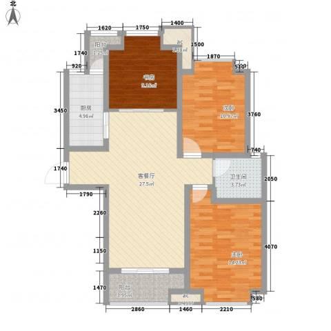 凯尔枫尚3室1厅1卫1厨112.00㎡户型图