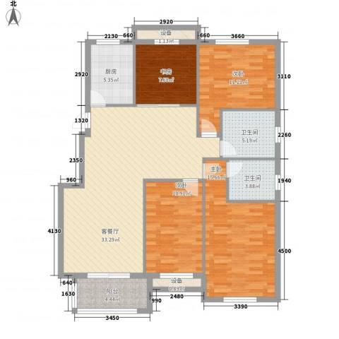 莱茵苑4室1厅2卫1厨140.00㎡户型图