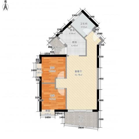 江南苑2室1厅1卫0厨78.00㎡户型图