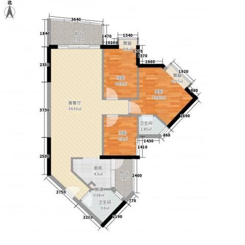 江南苑3室1厅2卫0厨103.00㎡户型图