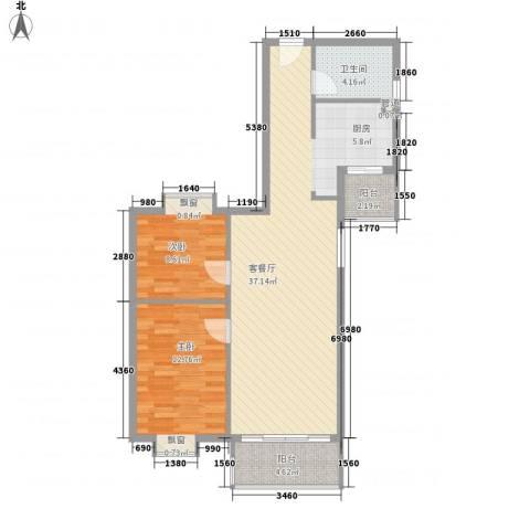 江南苑2室1厅1卫0厨97.00㎡户型图