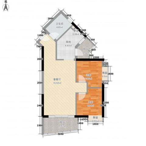 江南苑2室1厅1卫0厨67.82㎡户型图