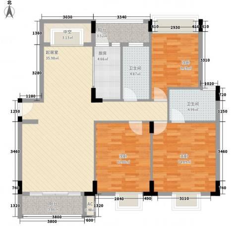 广东街3室0厅2卫1厨108.00㎡户型图