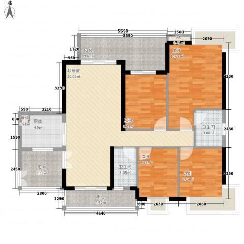 光大花园榕岸4室0厅2卫1厨148.00㎡户型图