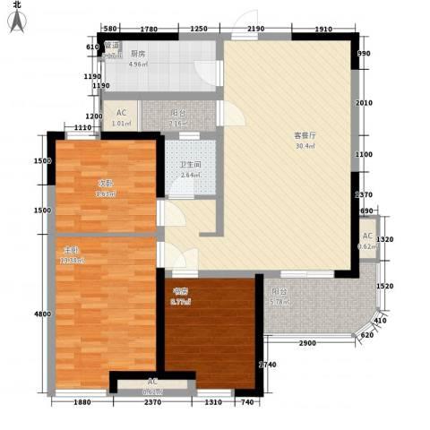 丰和新城二期3室1厅1卫1厨112.00㎡户型图