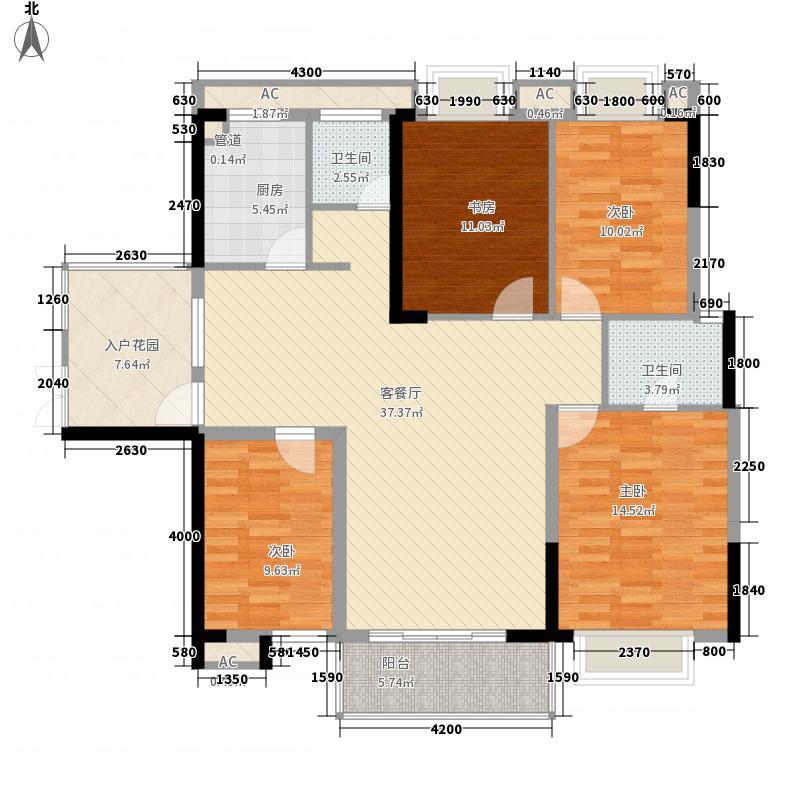 岭南家园户型4室
