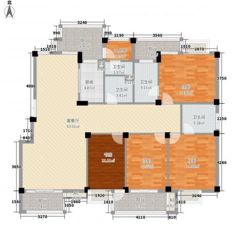 东源北院4室1厅4卫1厨215.00㎡户型图