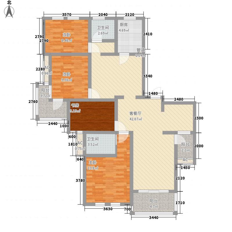 金悦华庭155.96㎡金悦华庭户型图平层户型4室2厅2卫户型4室2厅2卫