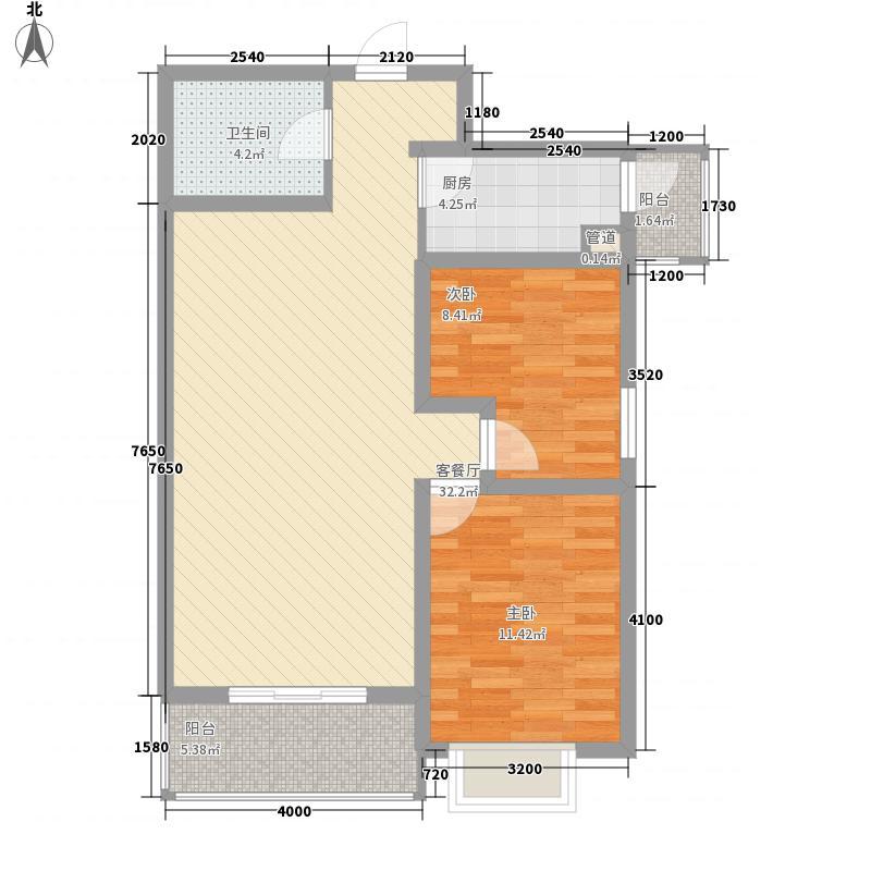 安宁庭院100.83㎡18#楼H2-2户型2室2厅1卫1厨