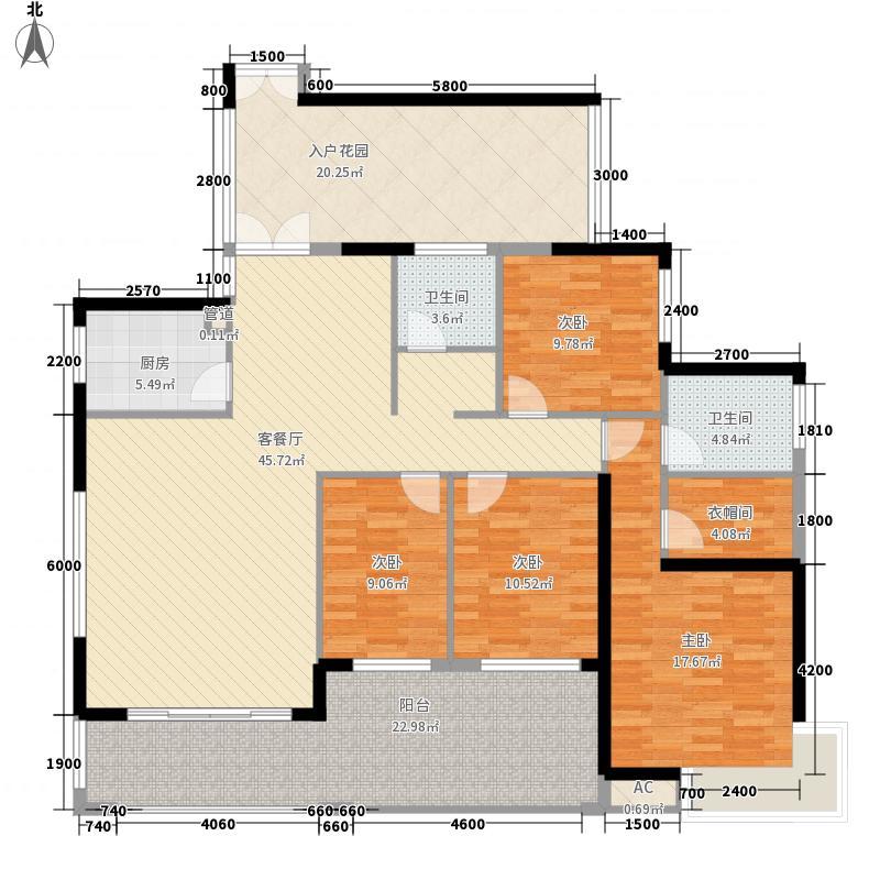 天利中央花园161.49㎡天利中央花园户型图3栋2单元04+05户型4室2厅2卫1厨户型4室2厅2卫1厨