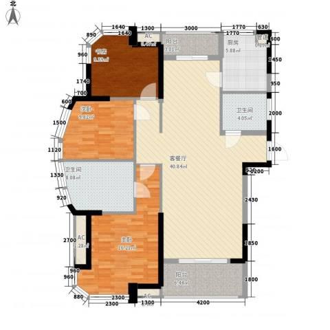 丰和新城二期3室1厅2卫1厨143.00㎡户型图