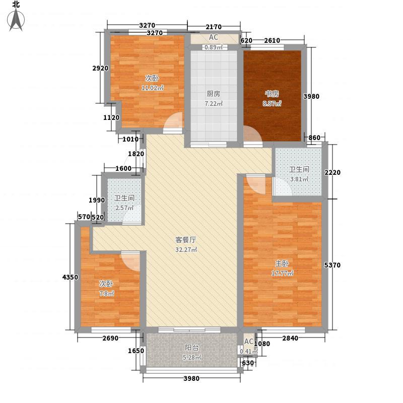 星光城市广场141.00㎡三期E户型4室2厅2卫1厨