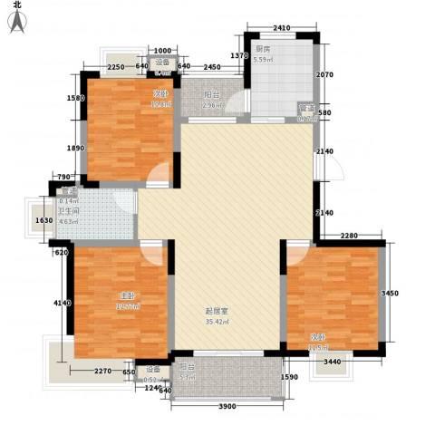 国际丽晶城3室0厅1卫1厨115.00㎡户型图