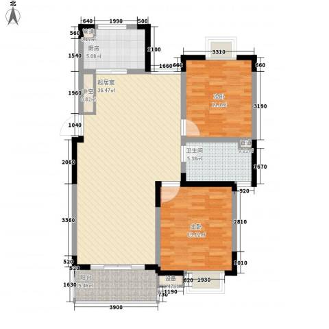 国际丽晶城2室0厅1卫1厨99.00㎡户型图