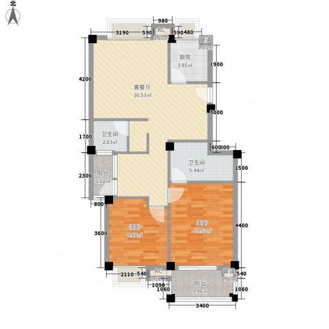 东源北院2室1厅2卫1厨93.00㎡户型图