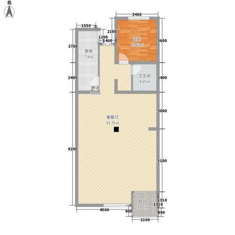 融和嘉苑1室1厅1卫1厨122.00㎡户型图