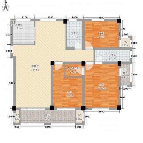 相郡3室1厅2卫1厨151.00㎡户型图
