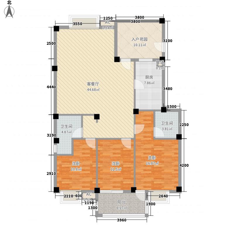 东源北院133.00㎡12#C户型3室2厅2卫1厨