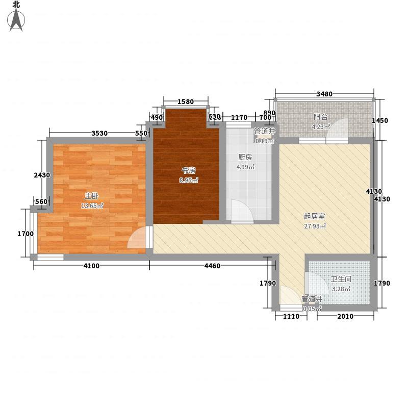 彩虹湾78.93㎡彩虹湾户型图户型2室1厅1卫户型2室1厅1卫