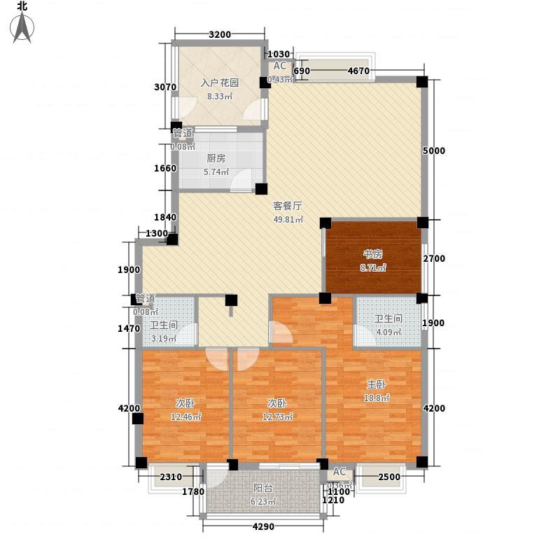东源北院152.00㎡12#A户型3室2厅2卫1厨