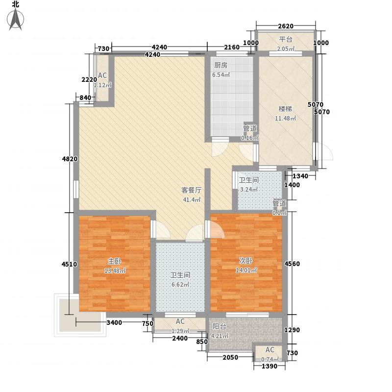 米兰花园106.00㎡普通住宅面积10600m户型