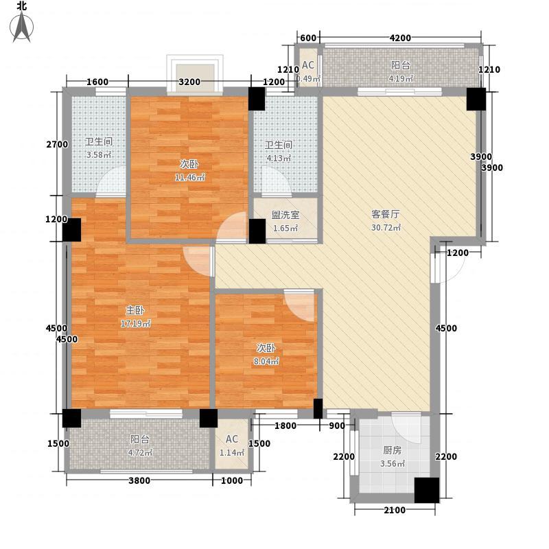 欣欣佳园118.30㎡二期11#品质户型3室2厅2卫1厨